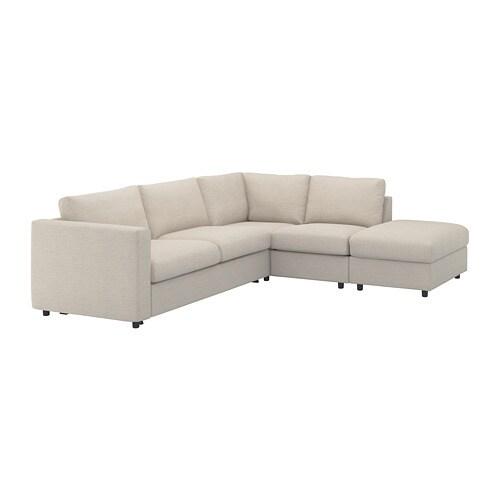 VIMLE Corner sleeper sofa, 4-seat, with open end, Gunnared beige