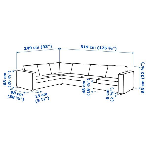 Dimensioni Divano Angolare 3 Posti.Vimle Sectional 5 Seat Corner Dalstorp Multicolor Ikea