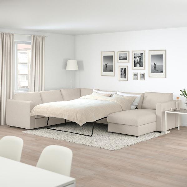 Beige Sleeper Sofa: VIMLE Corner Sleeper Sofa, 5-seat