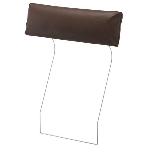 """VIMLE headrest Farsta dark brown 27 1/2 """" 5 1/8 """" 7 7/8 """""""