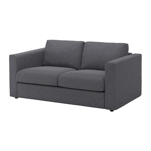 Vimle loveseat gunnared medium gray ikea for Canape cuir blanc ikea