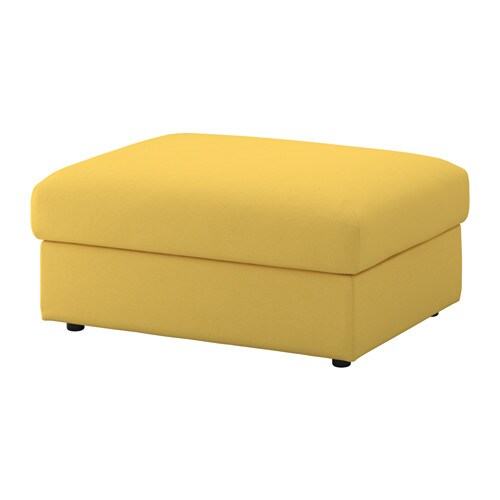 Vimle ottoman with storage orrsta golden yellow ikea for Pouf contenitore ikea
