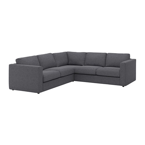 VIMLE Sectional 4 seat Corner Gunnared Medium Gray IKEA
