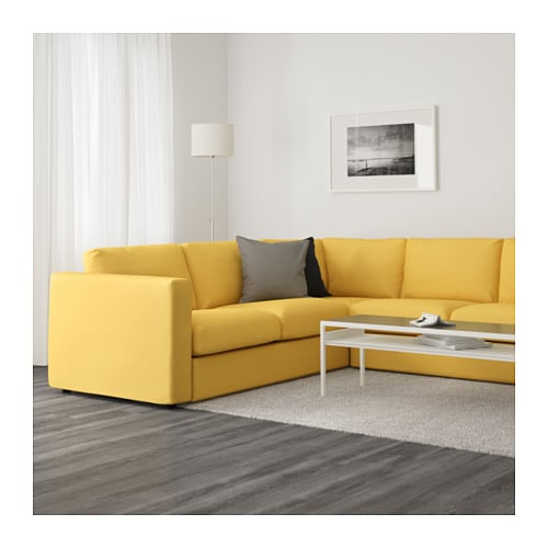 ... IKEA Vimle sectional Sofa in Orrsta Golden-Yellow  sc 1 st  Comfort Works : yellow sectional sofa - Sectionals, Sofas & Couches