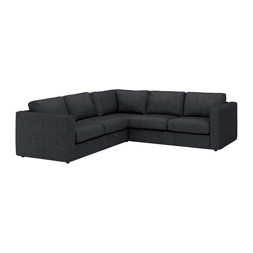 Vimle Sectional 4 Seat Corner Tallmyra Black Gray Ikea