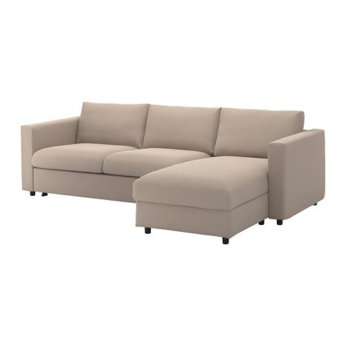 Sofa Sleeper Chaise: With Chaise/Tallmyra Beige