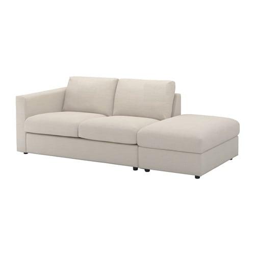 vimle sofa with open end gunnared beige ikea. Black Bedroom Furniture Sets. Home Design Ideas