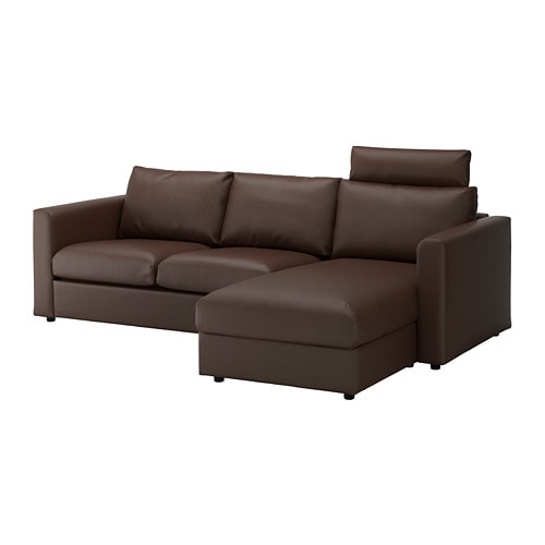 With Chaise With Headrest/Farsta Dark Brown