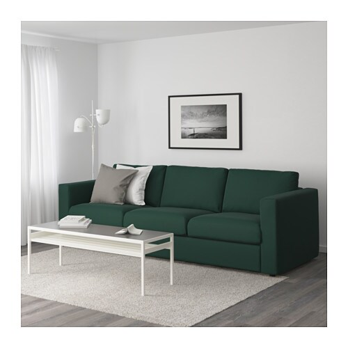 Vimle Sofa Gunnared Dark Green Ikea