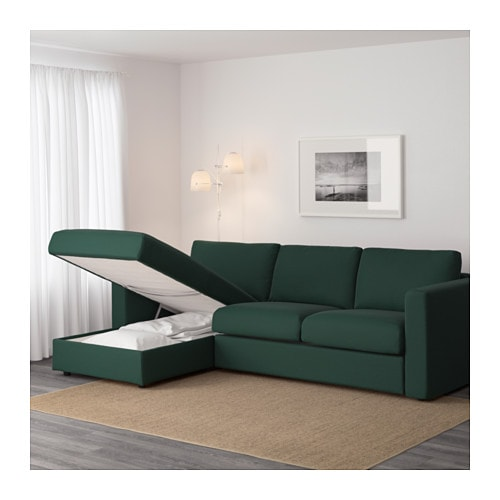 VIMLE Sofa with chaise Gunnared beige IKEA