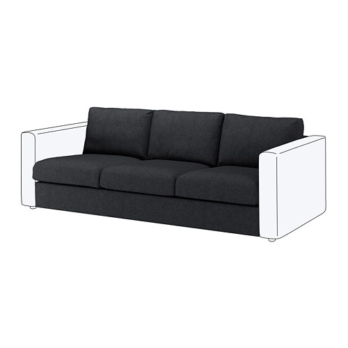 Superb Vimle Sofa Section Tallmyra Black Gray Download Free Architecture Designs Scobabritishbridgeorg