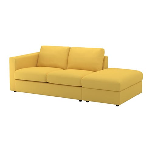 vimle sofa with open end orrsta golden yellow ikea. Black Bedroom Furniture Sets. Home Design Ideas