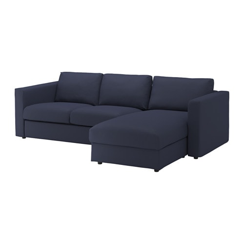 Vimle sofa with chaise orrsta black blue ikea - Chaise ikea plastique ...