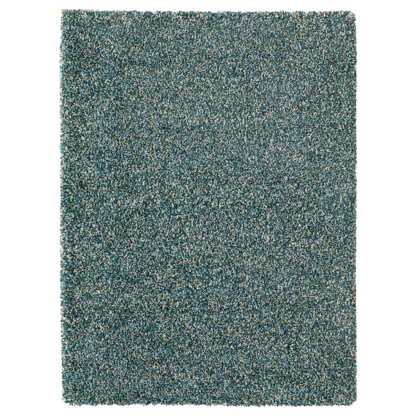 "VINDUM Rug, high pile, blue-green, 4 ' 4 ""x5 ' 11 """