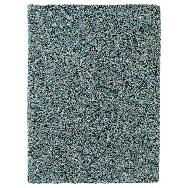 "VINDUM Rug, high pile, blue-green, 5 ' 7 ""x7 ' 7 """