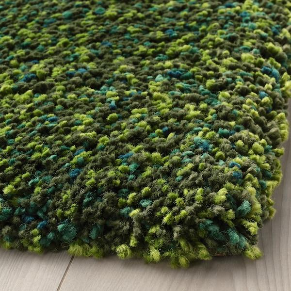 """VINDUM Rug, high pile, green, 6 ' 7 """"x8 ' 10 """""""