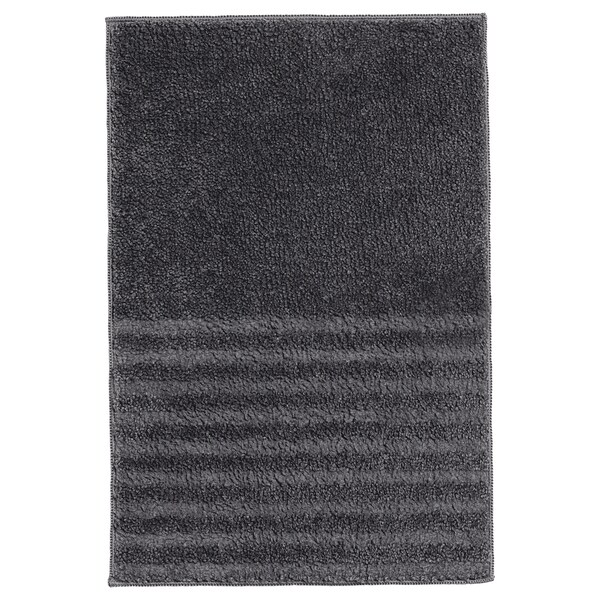VINNFAR Bath mat, dark gray, 16x24 ""
