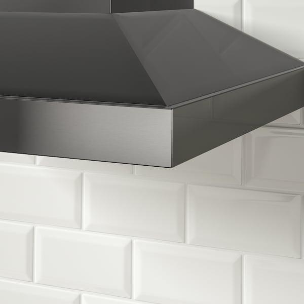 VINSTGIVANDE Wall mounted range hood, black Stainless steel