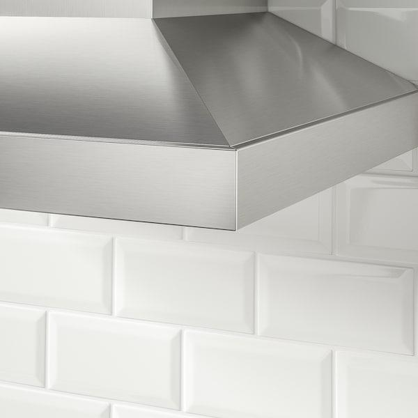 VINSTGIVANDE Wall mounted range hood, Stainless steel