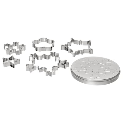 VINTER 2020 5 cookie cutters with container, assorted shapes