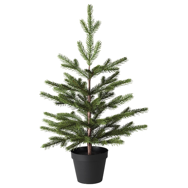 """VINTER 2020 Artificial potted plant, indoor/outdoor/christmas tree green, 4 ¾ """""""