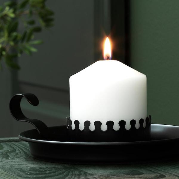 """VINTER 2020 Block candle holder, black, 2 """""""