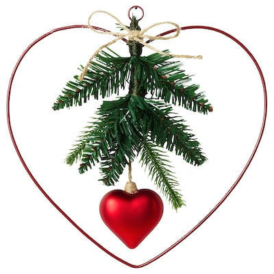 VINTER 2020 Decoration, wreath, heart-shaped, 9 ""