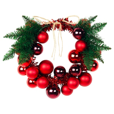 VINTER 2020 Decoration, wreath, red, 14 ""