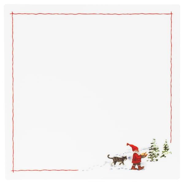"VINTER 2020 Place mat, Santa Claus pattern white/red, 14 ½x14 ½ """