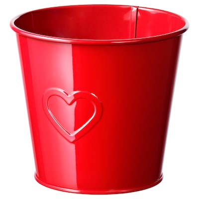 VINTER 2020 Plant pot, red, 4 ¾ ""