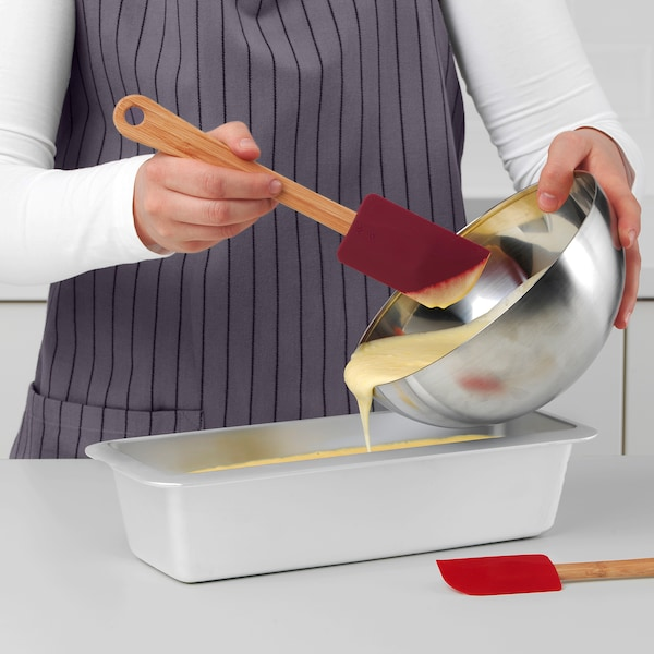 VINTER 2020 Spatula, set of 2, bamboo/silicone red