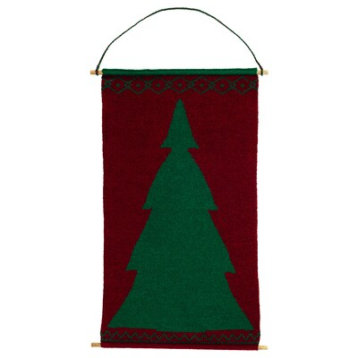 """VINTER 2020 Wall decoration, knitted red/green, 17 ¾ """""""