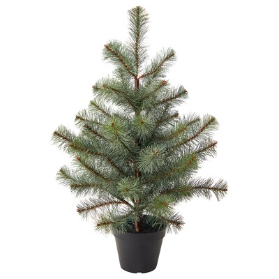 """VINTER 2021 Artificial potted plant, indoor/outdoor/christmas tree green, 4 ¾ """""""