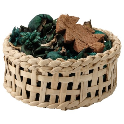"VINTER 2021 Basket with potpourri, handmade/Pine needles and moss green, 5 """