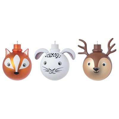 VINTER 2021 Decoration ball, set of 3, animals