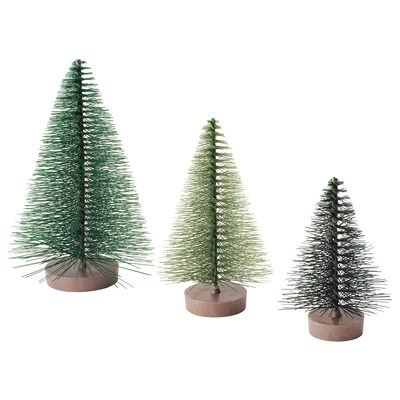 VINTER 2021 Decoration, set of 3, christmas tree green