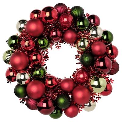 "VINTER 2021 Decoration, wreath, red/gold, 15 """