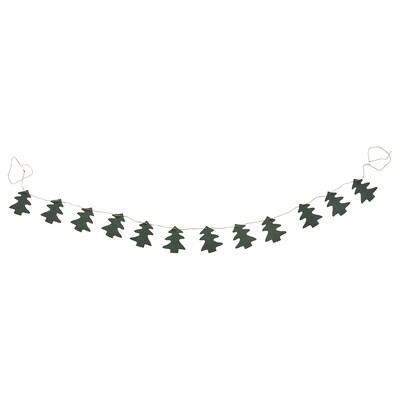 VINTER 2021 Garland, handmade Christmas tree shaped/green, 2 yard