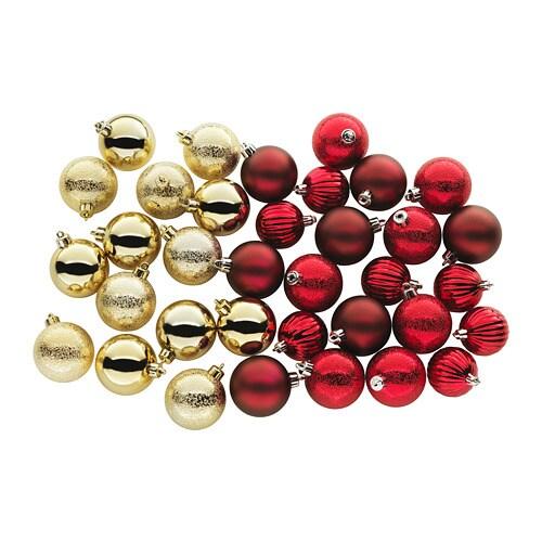 VINTER 2017 Decorative ornament, set of 35, red, gold