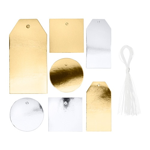 Gold and silver Gift tags