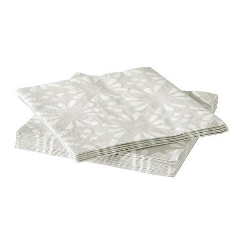VINTER 2016 Paper napkin IKEA The napkin is highly absorbent because it's made of three-ply paper.