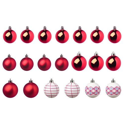 IKEA VINTERFEST Decoration bauble, set of 20