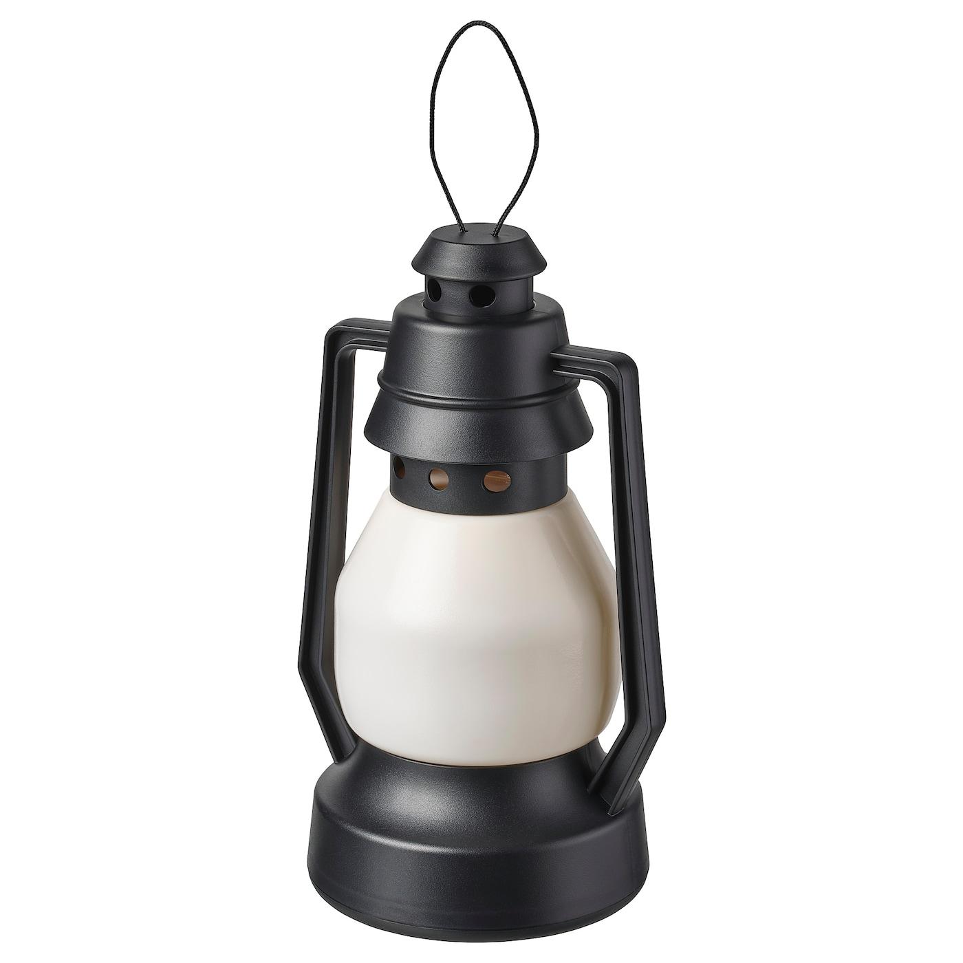Led Decorative Light Vinterfest Battery Operated Indoor Outdoor Lantern Black