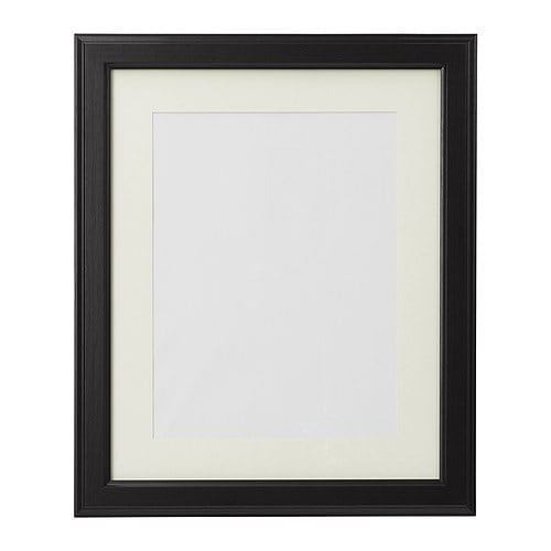"VIRSERUM Frame IKEA 8x10"" photo fits if used with the mat.  The mat enhances the picture and makes framing easy."