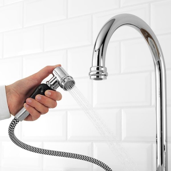 Vithavet Kitchen Faucet Separate Handspray Chrome Plated Ikea