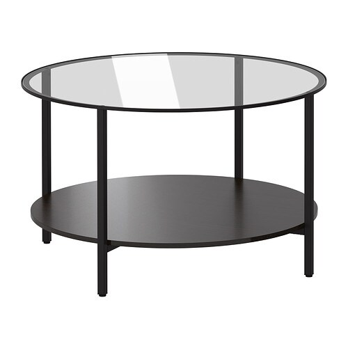 vittsj coffee table black brown glass ikea. Black Bedroom Furniture Sets. Home Design Ideas