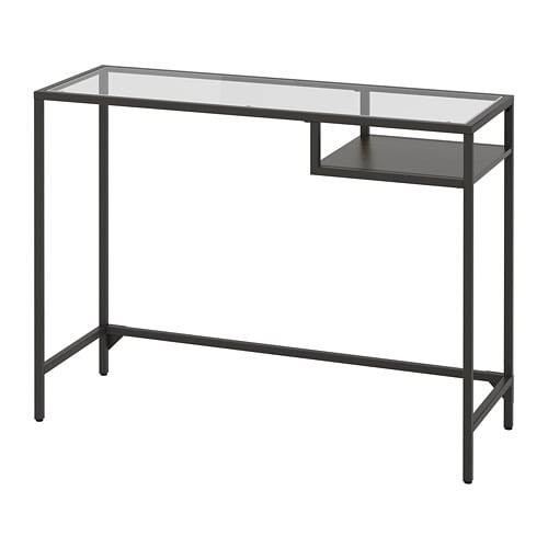 VITTSJÖ   Laptop Table, Black Brown, Glass