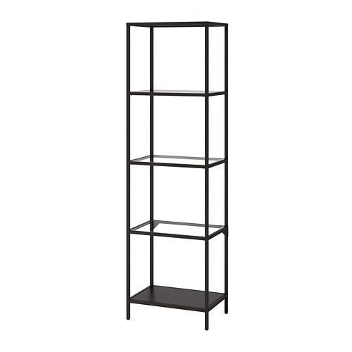 Vittsjö Shelf Unit Black Brown Glass Ikea