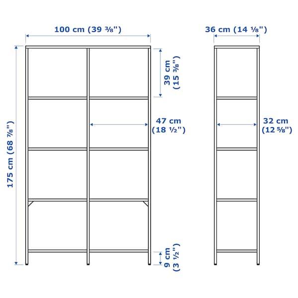 "VITTSJÖ Shelf unit, black-brown/glass, 39 3/8x68 7/8 """