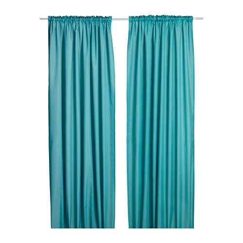 The gallery for ikea vivan curtains turquoise for Turquoise gordijnen
